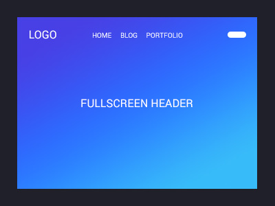 Fullscreen Header